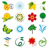 A collection of natural elements Royalty Free Stock Photo