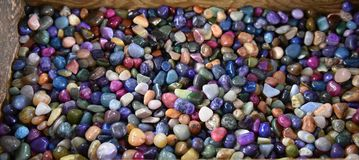 Collection natural gemstones  found usa. There are numerous natural gemstones , that have undergone weeks of polishing to achieve the smooth shiny surfaces Royalty Free Stock Photography