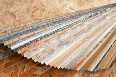 Collection natural linoleum Stock Image