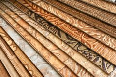 Collection natural linoleum Stock Images