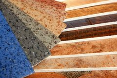 Collection natural linoleum Royalty Free Stock Photo