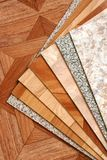 Collection natural linoleum Stock Photography