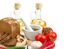 Collection of natural products Stock Image