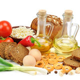 Collection of natural products Royalty Free Stock Photo
