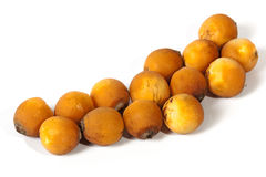 Collection of Natural Ripe Orange Palm Dates Royalty Free Stock Photo