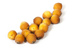 Collection of Natural Ripe Orange Palm Dates On White Stock Photos