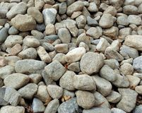 A Collection of Natural River Rocks for Background 2 stock image