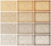 Collection natural sackcloth texture for background Stock Images
