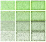 Collection natural sackcloth texture for background, green colou Stock Images