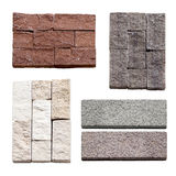 Collection of Natural stone wall texture for background. Stock Photos