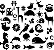 Collection of nature icons Stock Photos