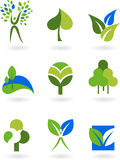 Collection of nature icons Royalty Free Stock Photo