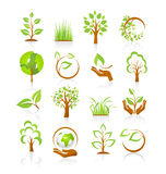 Set of nature icons Royalty Free Stock Images