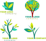 Collection of nature logo - 3. Set of logos and icons of nature Stock Photography