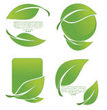Collection of nature symbols Stock Images