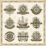 Collection nautique de labels de vintage illustration de vecteur