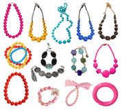 Collection of necklaces Royalty Free Stock Images