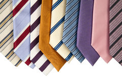 Collection of neckties hanning Royalty Free Stock Image