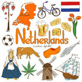 Collection of Netherlands icons stock image