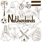 Collection of Netherlands icons Stock Photo