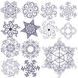 Collection  new snowflakes Royalty Free Stock Photos