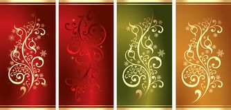 Collection of New Year's patterns Royalty Free Stock Photo
