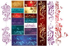 Collection of New Year's patterns Royalty Free Stock Photography