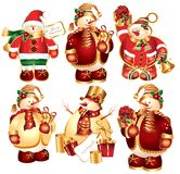 Collection of New Year's snowballs stock illustration