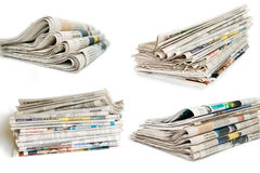Collection of newspaper Stock Photo