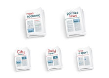 Collection of newspapers Royalty Free Stock Image