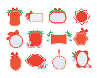 Collection of NewYear and Christmas Sale Stickers Stock Photography
