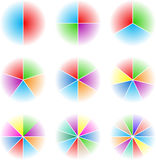 Collection of nine cyclic Stock Image