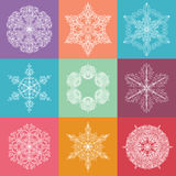 Collection Of Nine Lacy Elements Royalty Free Stock Photo