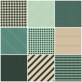 Collection of nine seamless patterns vector illustration