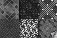 Collection noire et blanche Photo libre de droits