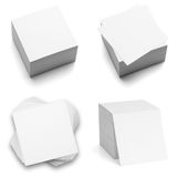 Collection of note paper stacks. royalty free stock images