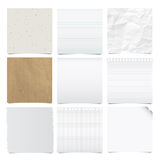 Collection of note papers background. Royalty Free Stock Photography