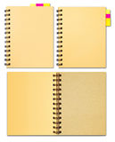 Collection of notebook. Office supply stationary stock photo