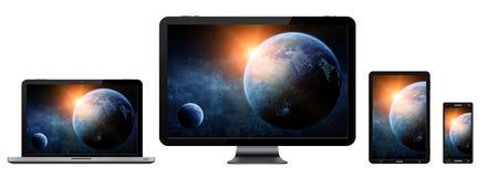 Collection numérique moderne de dispositif de technologie Images libres de droits