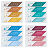 Collection of number banners template Royalty Free Stock Photo