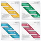 Collection of number banners template Royalty Free Stock Photography