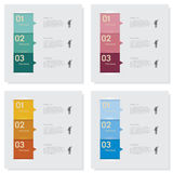 Collection of number banners template Stock Photography