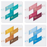 Collection of number banners template Royalty Free Stock Photos