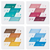 Collection of number banners template Royalty Free Stock Images