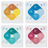 Collection of number banners template Royalty Free Stock Image
