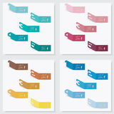 Collection of number banners template Stock Images