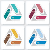 Collection of number banners template Stock Photo
