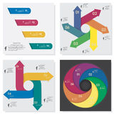 Collection of number banners template Stock Photos