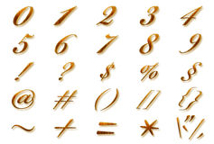 Collection of numbers Royalty Free Stock Image