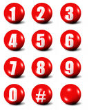 Collection of numbers Stock Image
